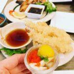 Fresh Oyster shot and Crispy Shrimp tempura